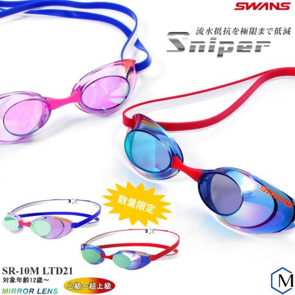FINA承認モデル クッションなし 競泳用スイムゴーグル 水泳用 ミラーレンズ SWANS(スワンズ) SR-10MLTD21(限定)