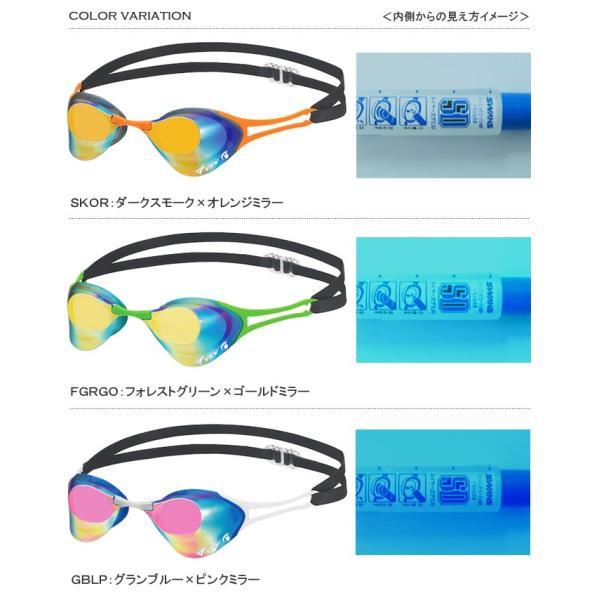 FINA承認モデル クッションなし 競泳用スイムゴーグル ミラーレンズ Blade ZERO ブレードゼロ <VIEW(ビュー)> V127SAM|mizugi|02