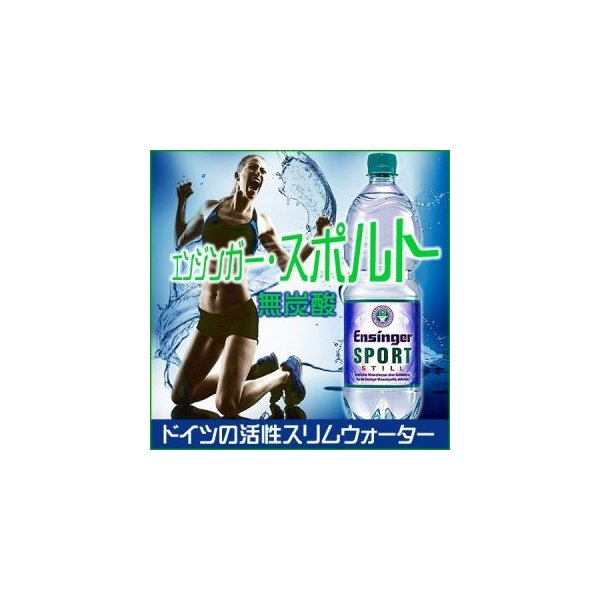 ダイエット 水  送料無料 エンジンガー・スポルト・スティル 無炭酸 1L 12本 正規品日本語ラベル ドイツのパワー天然水  超硬水