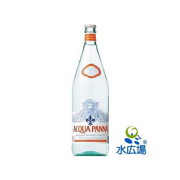 水 1L アクアパンナ グラスボトル  無炭酸 1Lx12本入り 正規輸入品