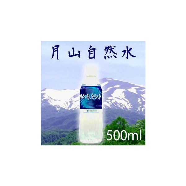 水 500ml 月山自然水 500mlx24本 天然水 ミネラルウォーター 山形産 送料無料 メーカー直送 代引不可|mizuhiroba-jp