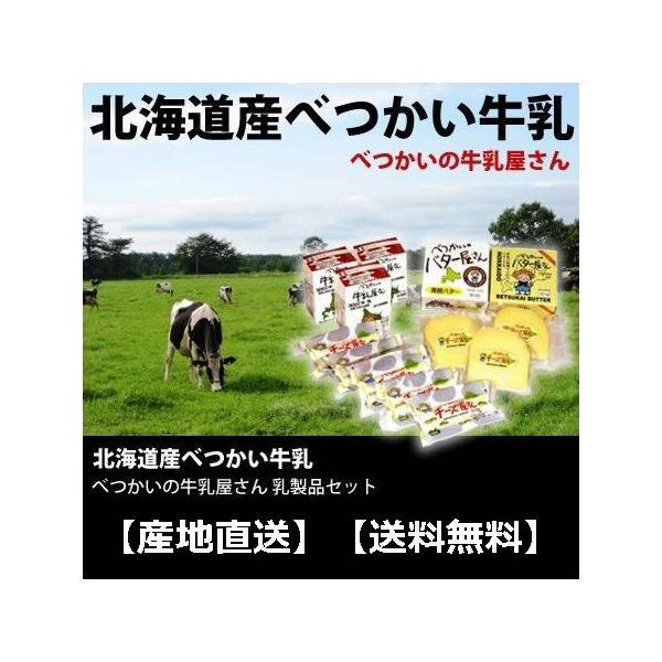 べつかい乳製品セット 北海道産 産地直送 送料無料 代引き不可