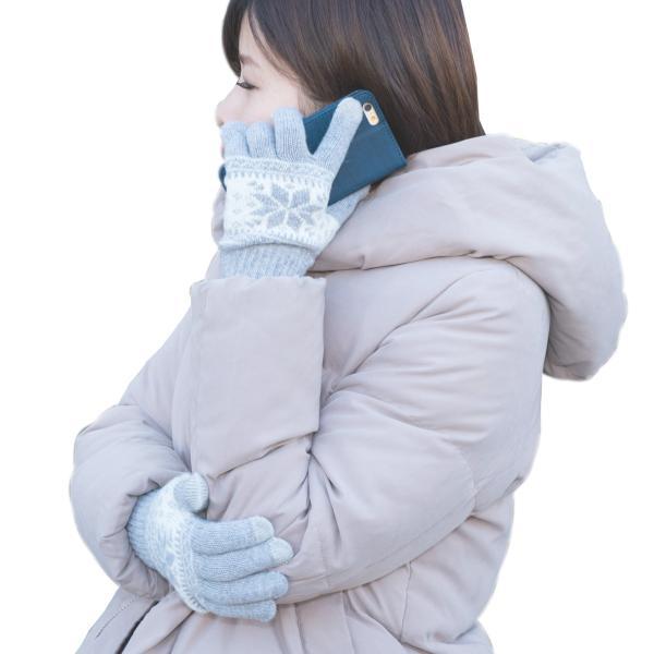 スマホ手袋 レディース メンズ ノルディック柄 スマートフォン対応手袋 ニット グローブ 冬 男性 女性 大人用 防寒 タッチパネル 北欧 タッチグローブ おしゃれ|mizuki-store