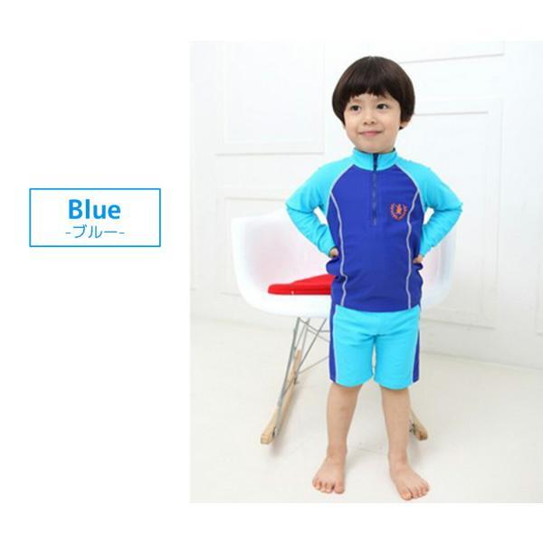 子供 水着 男の子 長袖トップス ハーフパンツ キャップ付き 3点セット ジュニア 90 100 110 120 130cm スクール ラッシュガード|mizuki-store|17