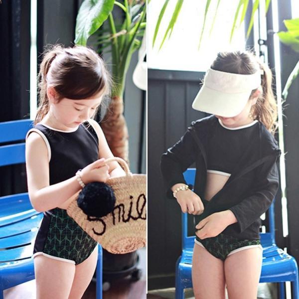子供 水着 キッズ 女の子 ラッシュガード セパレート ビキニ スイムキャップ ハイウエスト ショートパンツ 4点セット 100cm 110cm 120cm 130cm|mizuki-store|11