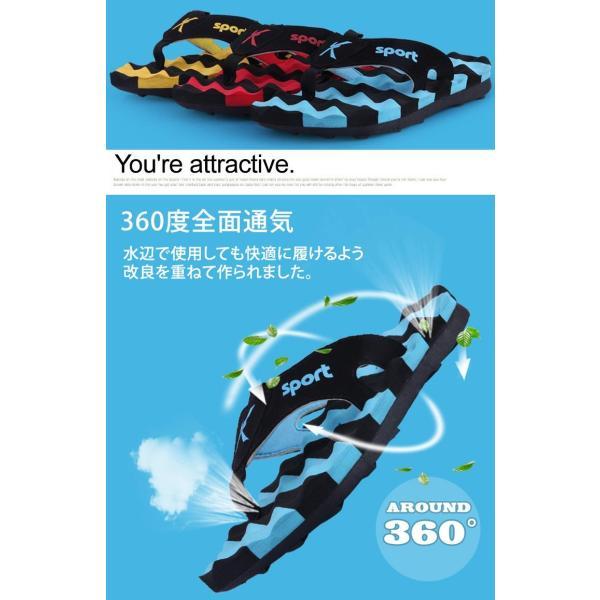 ビーチサンダル メンズ 痛くない 厚底 男性用 サンダル 海 ビーチ 大人 全面通気 高機能排水設計 マッサージ効果 おしゃれ かっこいい 歩きやすい 軽量|mizuki-store|02