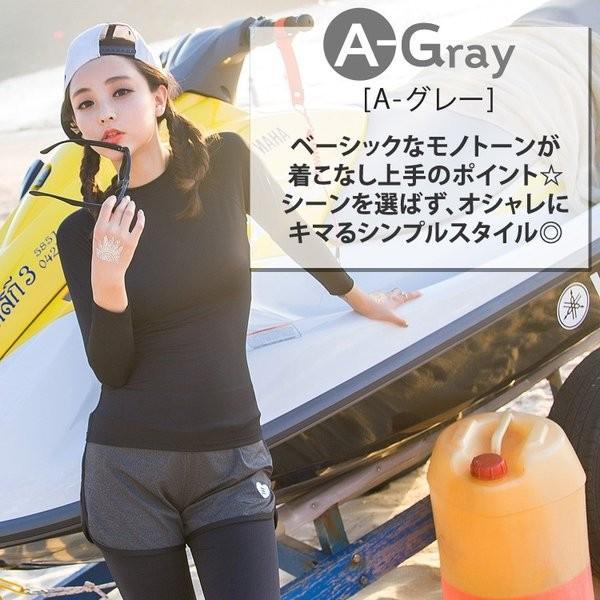 フィットネス 水着 レディース 2点セット ショートパンツ ラッシュレギンス付き 体型カバー 40代 30代 20代 ミセス 50代|mizuki-store|09