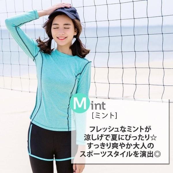 水着 3点セット フィットネス 水着 体型カバー ラッシュガード レディース 大きいサイズ ママ 水着 レディース ショートパンツ 女の子 短パン かわいい|mizuki-store|11
