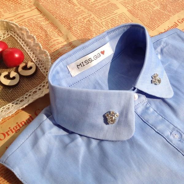 付け襟 丸襟 レディース つけ襟 ビジュー コーデ自由自在 重ね着 無地 着膨れ防止 おしゃれ かんたん つけえり キラキラ かわいい 女性用|mizuki-store|06