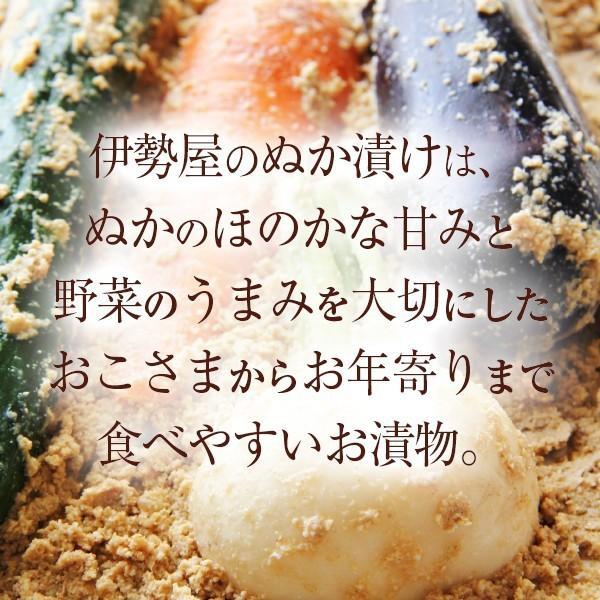ぬか床セット 初心者向けぬか漬けしおり 旬ぬか漬け1品 足しぬか300g 旨味の素 タッパー付き|mizunasuzukehannbai|03
