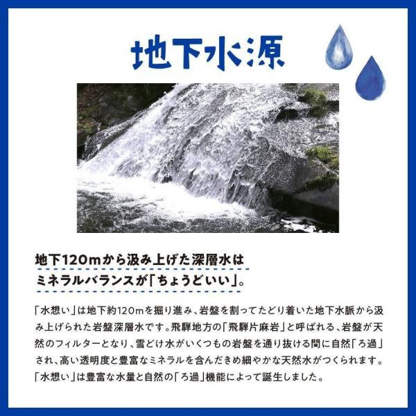 水想い ミネラルウォーター 北アルプス 飛騨山脈の天然水 500ml×36本 軟水|mizuomoi|07
