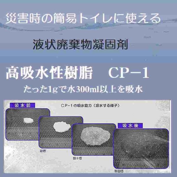 簡易トイレ 携帯トイレ 凝固剤に最適 100回分 吸水ポリマー 高吸水性樹脂 500g×2個  防災用品