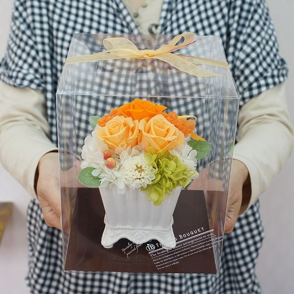 プリザーブドフラワー プレゼント 花 誕生日 女性 母の日 結婚記念日 お祝い マダムミニ|mizutomo|06