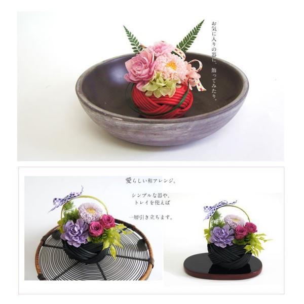 母の日 プレゼント 花 プリザーブドフラワー 和風 春 インテリア 誕生日 お祝い 女性 ギフト 寿々花|mizutomo|05
