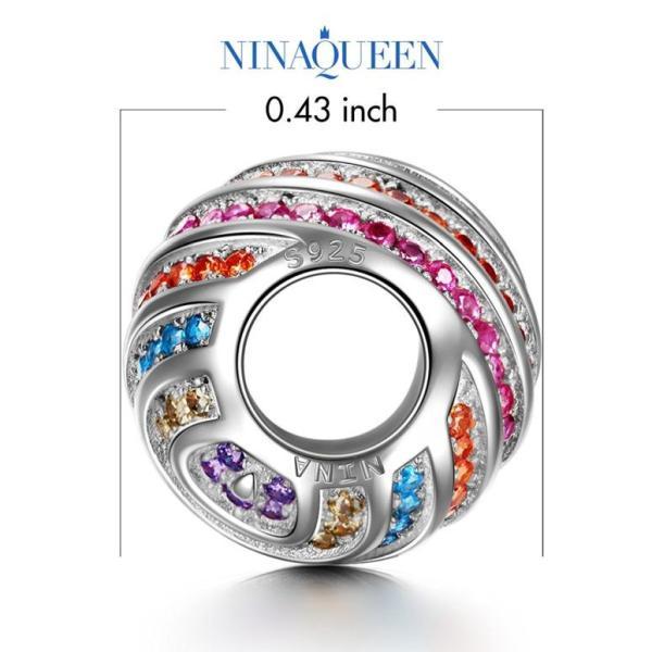 チャーム ブレスレット バングル用 Style Nina Queen スタイル ニーナ クイーン デザイン 限定 ロマンティックレインボー 虹