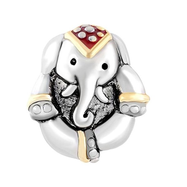 チャーム ブレスレット バングル用 CharmSStory チャームズストーリー Elephant Charm Antique'd Thailand Animal Style Beads Charms For Bracelets