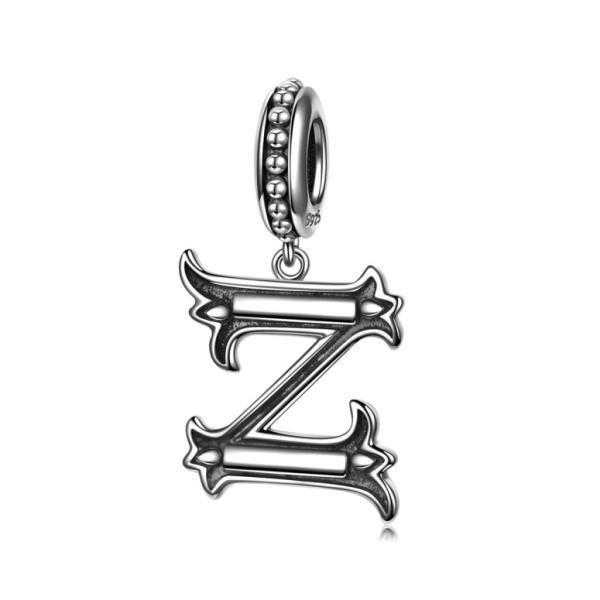 チャーム ブレスレット バングル用 Nina Queen スタイル ニーナ クイーン デザイン NINAQUEEN Letter Alphabet Charm 925 Sterling Silver Roman Style Dangle C