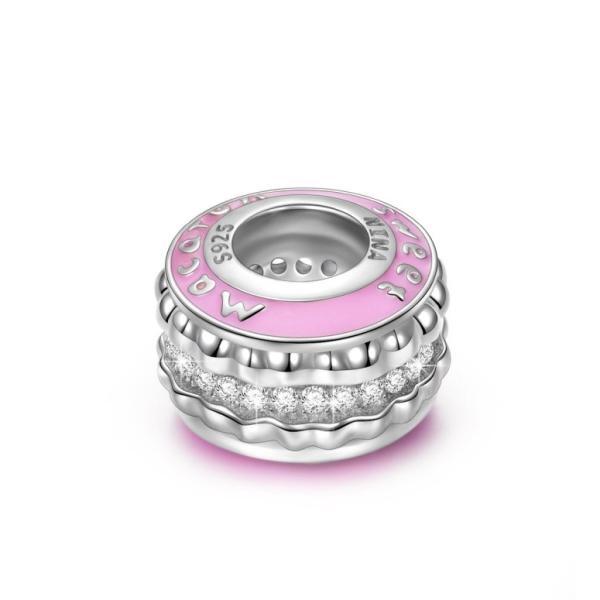 """チャーム ブレスレット バングル用 Nina Queen スタイル ニーナ クイーン デザイン NINAQUEEN """"Pink Macaron 925 Mothers Day Jewelry Sterling Silver Colorful"""