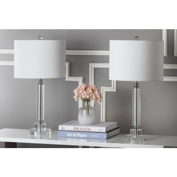 サファヴィヤ safavieh テーブルランプ サファビヤ サファヴィア Safavieh Lighting Collection Deco Column Crystal 24.5-inch Table Lamp (Set of 2)