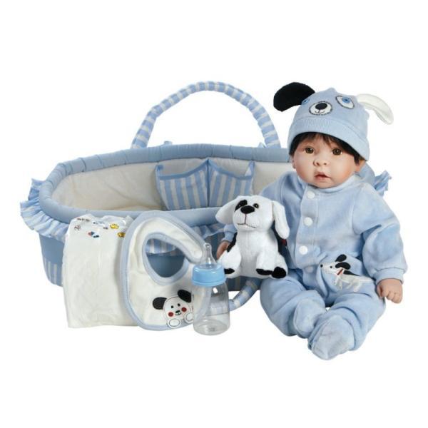 臨床教育 リアル ベビードール コレクション 約43cm 男の子 乳児 かわいい  ベビー人形 Paradise Galleries Reborn Baby Doll Boy Finn & Sparky Boy Baby D