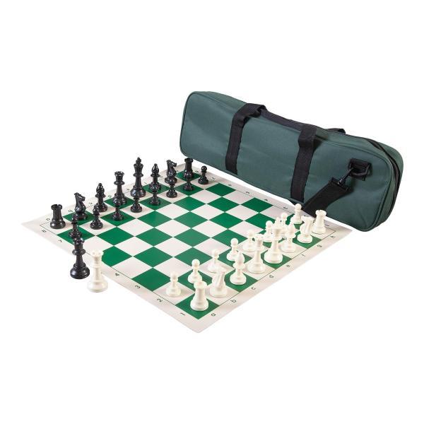 チェスセット  Heavy Tournament Triple Weighted Chess Set Combo - Forest Green