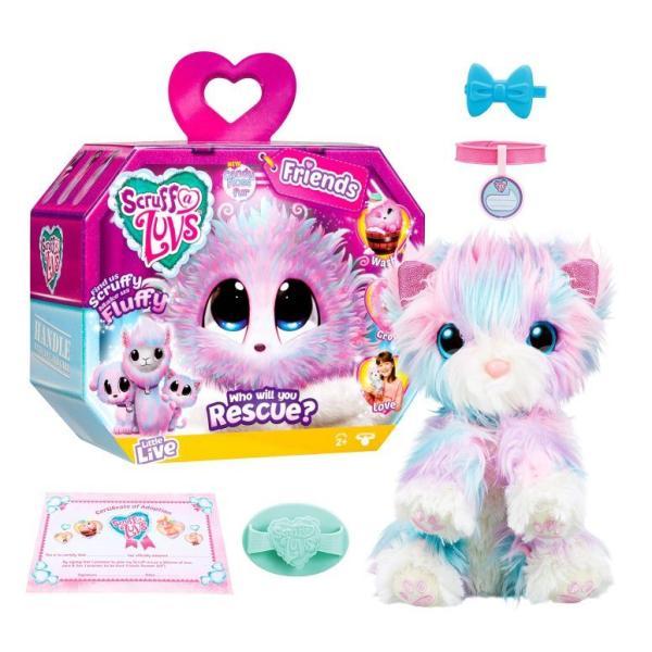 レスキューペット Little Live Scruff-A-Luvs Plush Mystery Rescue Pet - Candy Floss