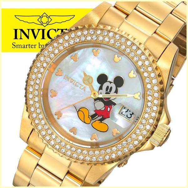 インビクタ Invicta インヴィクタ ディズニー Disney ミッキーマウス Mickey Mouse ミッキー 女性用 腕時計 レディース ウォッチ ホワイト 24751