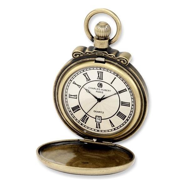 チャールズヒューバート Charles-Hubert, Paris 懐中時計 ポケット ウォッチ ホワイト 3863-G