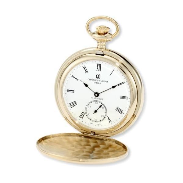 チャールズヒューバート Charles-Hubert, Paris 懐中時計 ポケット ウォッチ ホワイト 3907-GR