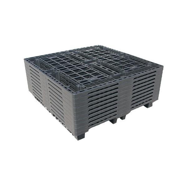 九州エリア用 物流(樹脂)プラスチックパレット すのこ 1100x1100 10枚セット|mj-wholesale|02