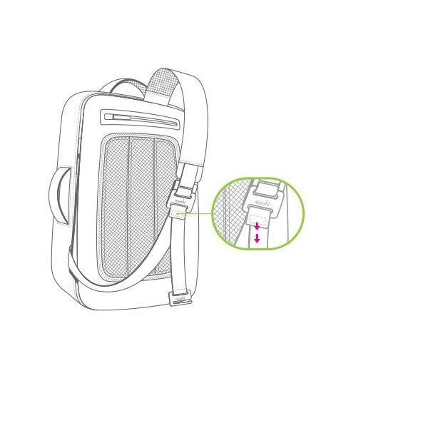 moshi バッグ モシ ベンチュロ バックパック ボディバッグ メンズ Venturo  スタンダードモデル MacBook Pro 15 インチ対応 父の日 送料無料(沖縄は+900円)|mjsoft|06