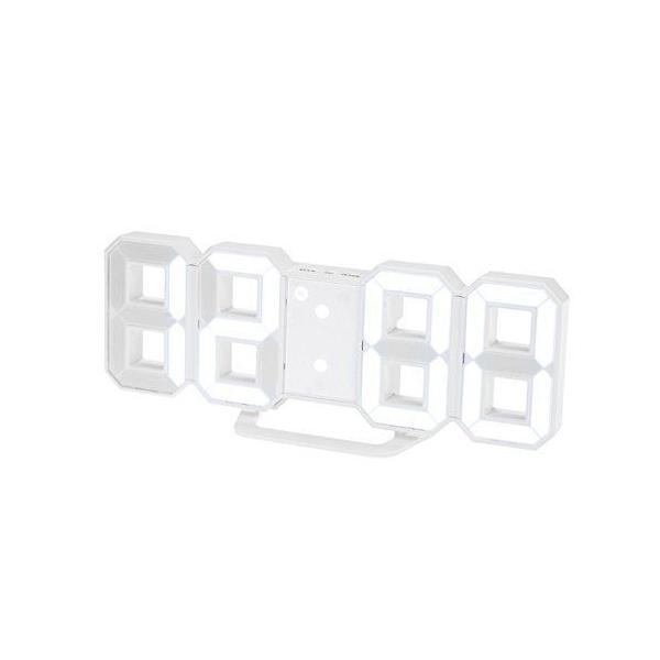 HaolongLED壁掛けデジタル時計-3D立体wallウォールclockアラーム機能付き置き時計壁掛け時計