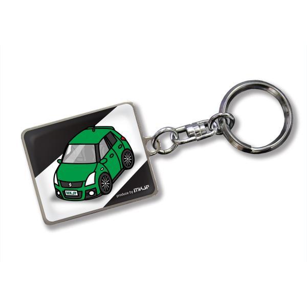 MKJP カスタムキーホルダー スズキ スイフトスポーツ ZC31S 車カラー:グリーン ゆうメール送料無料