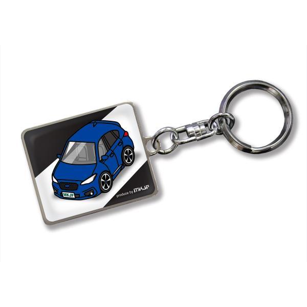 MKJP カスタムキーホルダー スバル インプレッサ スポーツ GT2 GT3 GT6 GT7 GK2 GK3 GK6 GK7 車カラー:ブルー ゆうメール送料無料