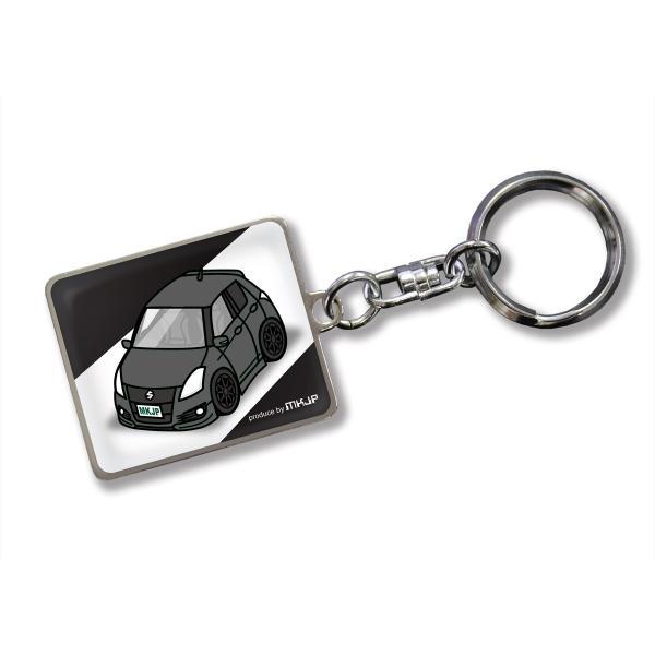 MKJP カスタムキーホルダー スズキ スイフトスポーツ SWIFT SPORTS ZC32S 車カラー:ブラック ゆうメール送料無料