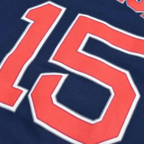MLB レッドソックス ダスティン・ペドロイア Tシャツ ネイビー マジェスティック Player Tシャツ|mlbshop|03