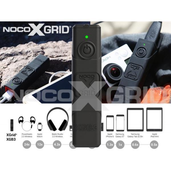 NOCO(ノコ)X GRID IP65 ウォータープルーフ 耐衝撃 アウトドア仕様 モバイルバッテリー 3,000mAh[正規品] XGB3|mline