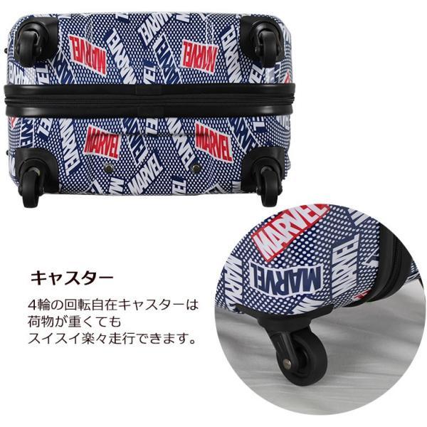 ファスナー スーツケース Mサイズ 中型 61L TSAロック搭載 MARVEL(マーベル)ジッパーケース