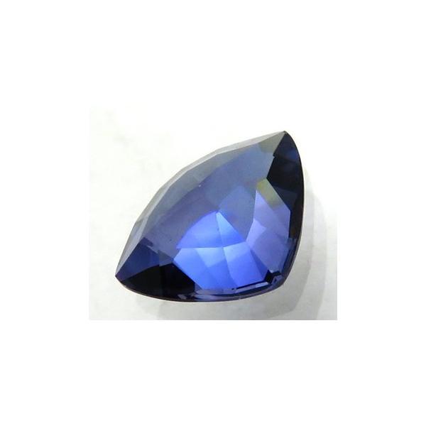 12154 ベニトアイト 0.85ct 高彩度の濃い青 青白色の蛍光 カリフォルニア産 上級品 : 瑞浪鉱物展示館 【送料無料】