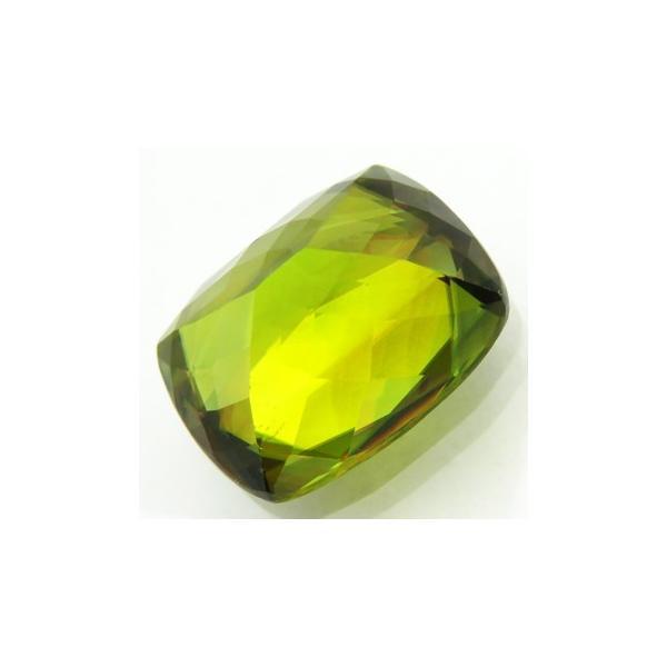 12263 グリーンスフェン 9.00ct 黄緑 強テリ! マダガスカル産 【上級品】 : 瑞浪鉱物展示館 【送料無料】