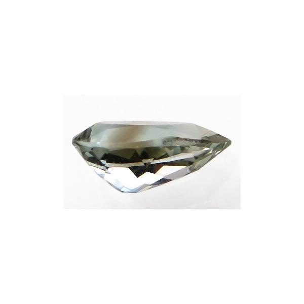 12648 バイカラーイエレメイエファイト 0.49ct ブラウンを伴うグリーン ナミビア産 : 瑞浪鉱物展示館 【送料無料】