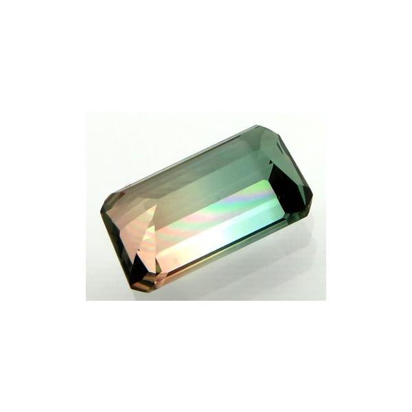 12786 トルマリンバイカラー 1.18ct ピンクと淡青緑 やさしいバイカラー アフガニスタン産 : 瑞浪鉱物展示館 【送料無料】