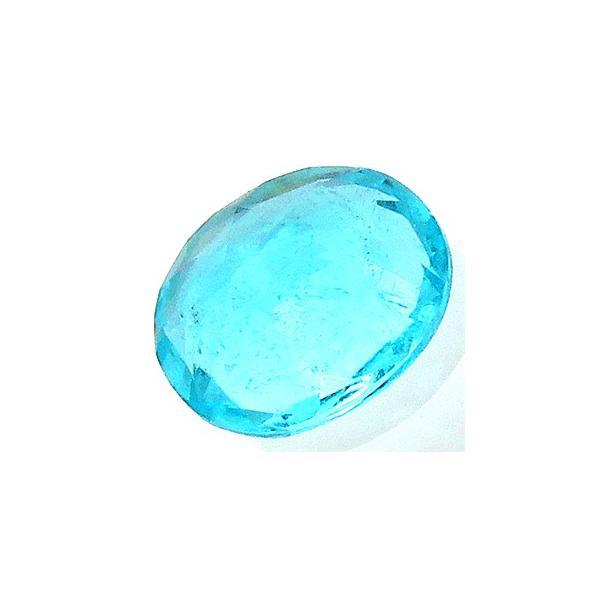 13727 パライバトルマリン ルース 0.22ct 典型的ネオンカラー 緑青 Batalha ブラジル産 : 瑞浪鉱物展示館 【送料無料】