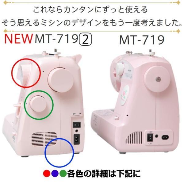 ミシン 本体 初心者 簡単 コンパクト 軽量 安い ジャガー ミシン MT719-2 電子ミシン|mm1|04