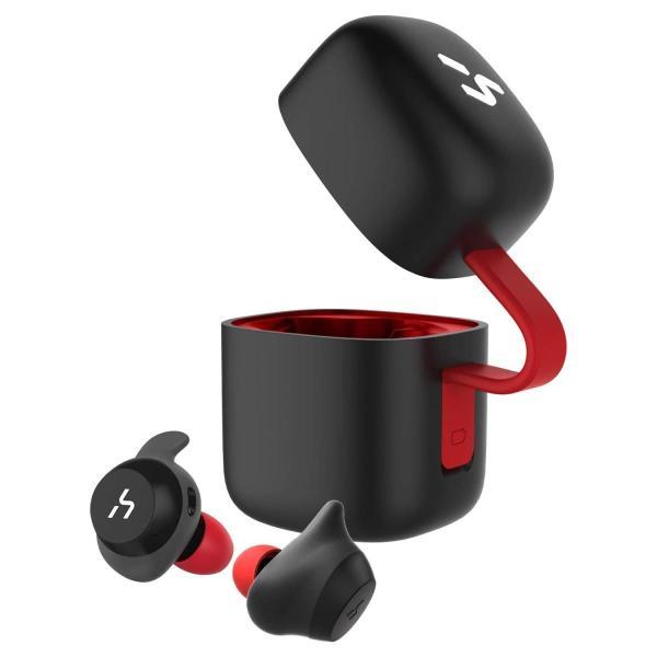 HAVIT Bluetooth イヤホン 完全ワイヤレスイヤホン「Bluetooth 5.0 」TWSイヤホンスポーツ PSE認証済  G1黒+赤|mmart1