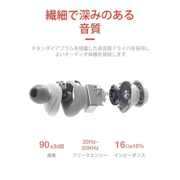 HAVIT Bluetooth イヤホン 完全ワイヤレスイヤホン「Bluetooth 5.0 」TWSイヤホンスポーツイヤホン PSE認証済/ G1白|mmart1|06