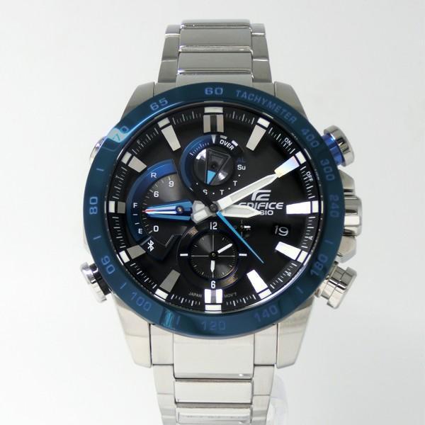 【7年保証】カシオ エディフィス モバイルリンク連携機能付 ソーラー メンズ 男性用腕時計 品番:EQB-800DB-1AJF|mmco|02