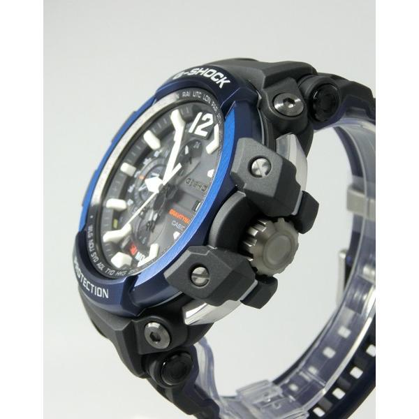 【7年保証】CASIO G-SHOCK グラビティマスター Bluetooth搭載GPSハイブリッド電波ソーラー 男性用腕時計  GPW-2000-1A2JF カシオメンズGショック|mmco|03