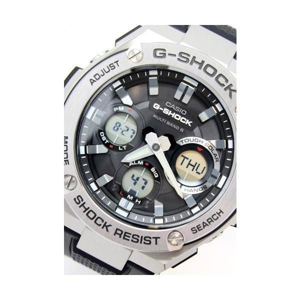 【7年保証】 CASIO G-SHOCK  レイヤーガード構造 Gスチール  GST-W110-1AJF 国内正規品  ソーラー電波  メンズ 男性用腕時計|mmco|02