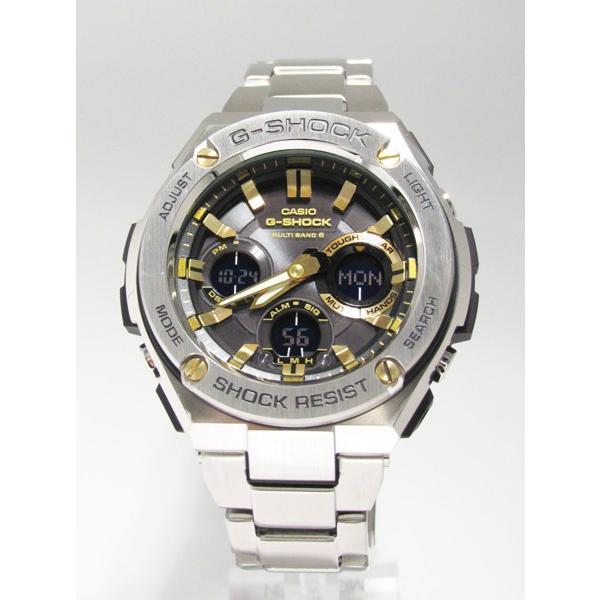【7年保証】 CASIO G-SHOCK  レイヤーガード構造 Gスチール   国内正規品 ソーラー電波  メンズ 男性用腕時計  GST-W110D-1A9JF|mmco|02